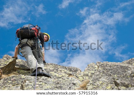 climber in the mountain