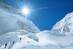 Climber reaches the summit of Everest, Nepal