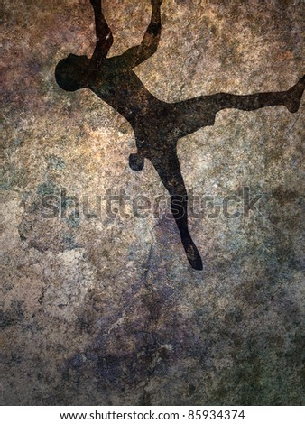 climber silhouette background
