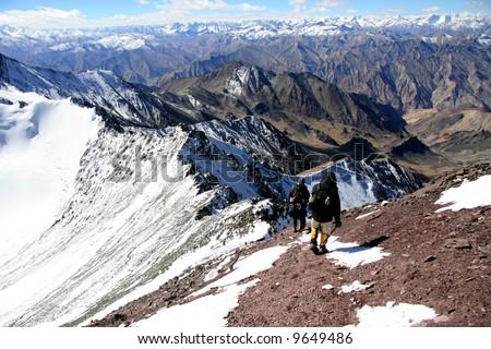 Climbers -Mountain Climb- Stok Kangri (6,150m / 20,080ft), India
