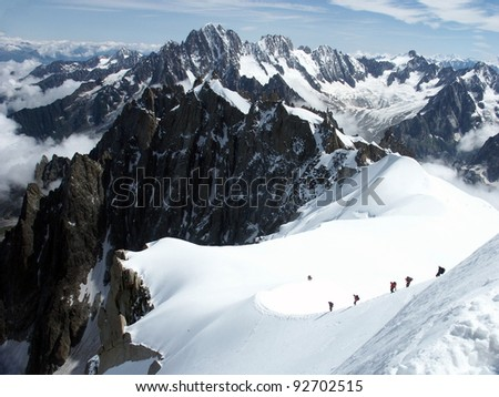 Climbing Alps in France