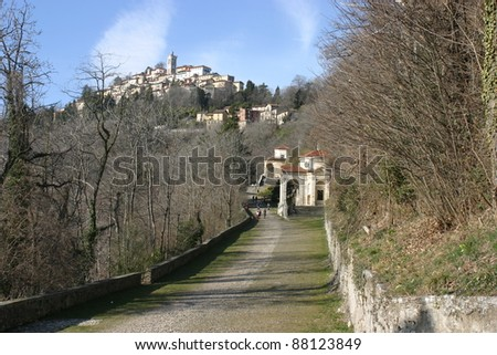 Climbing at Sacro Monte Of Varese, Unesco World Heritage Site