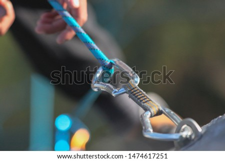 Climbing, climbing equipment, grip, draw, rope, mountain, mountaineering #1474617251