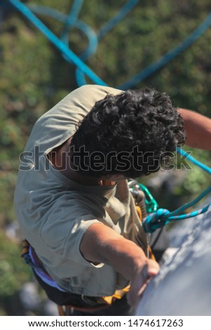 Climbing, climbing equipment, grip, draw, rope, mountain, mountaineering #1474617263