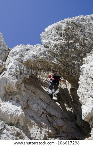 climbing mountaineer