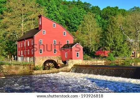 Clinton Mill in rural Clinton, New Jersey in the USA.