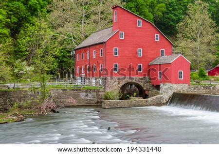 Clinton Mill in the countryside town of Clinton, New Jersey in the USA.