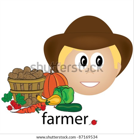 Clipart Illustration Farmer Shutterstock