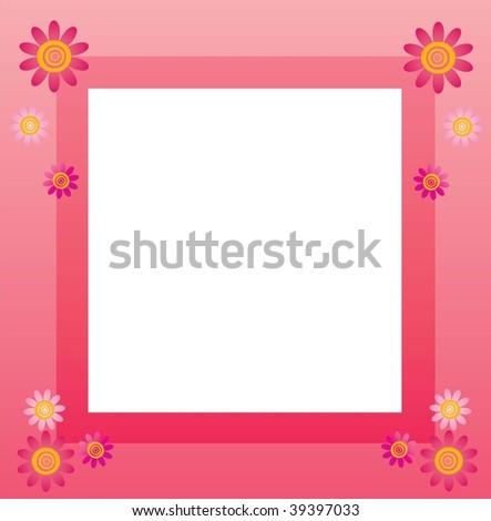 picture frame clip art. flower frame clipart. flower