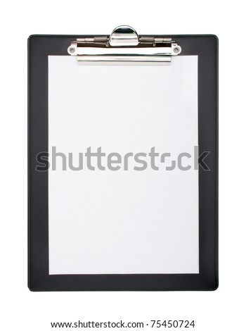Clip board and papers