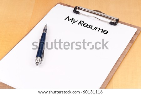 "Clip Board With ""My Resume"""