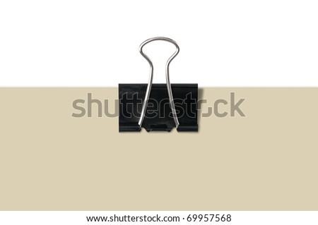 Clip holding blank paper