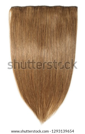 clip in remy straight medium brown human hair extensions #1293139654