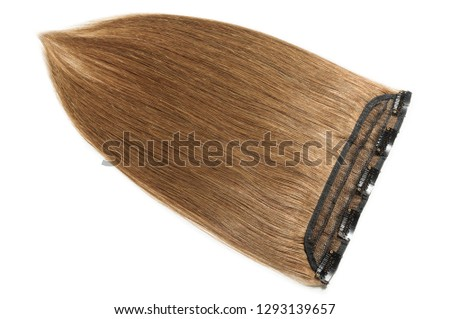 clip in remy straight medium brown human hair extensions #1293139657