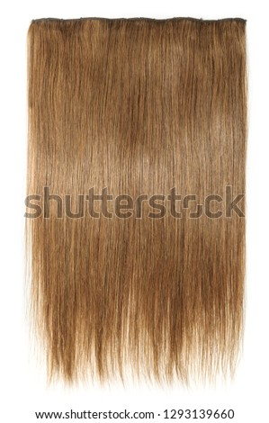 clip in remy straight medium brown human hair extensions #1293139660