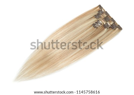 Clip in straight mixed brown with blonde highlight human hair extensions