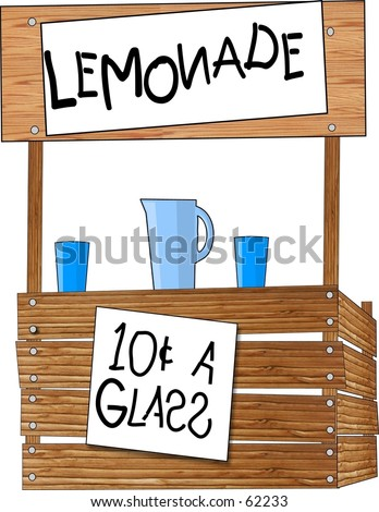 Clipart illustration of a lemonade stand