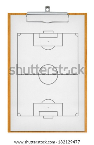 clipboard and football field, with clipping paths