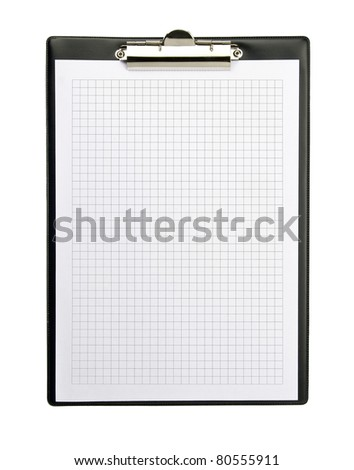Clipboard isolated on white background