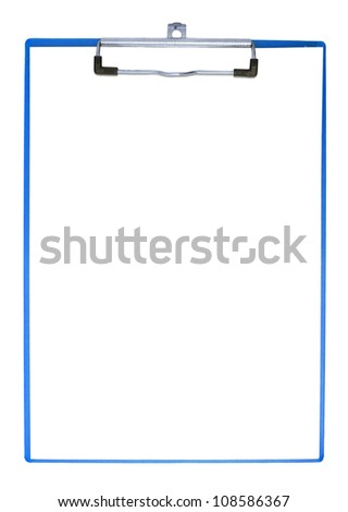 clipboard isolated with clipping path