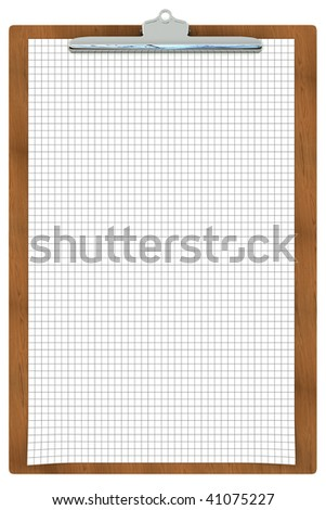 Clipboard with checkered paper