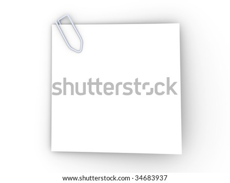 Clipped Paper Note