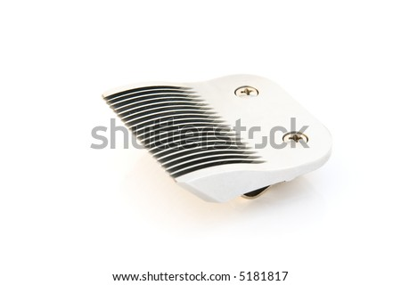 Clipper blade perfeclty isolated over white background