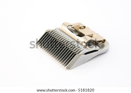Clipper blade perfectly isolated over white background