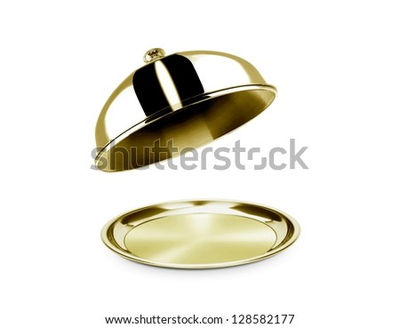Cloche and platter with open lid