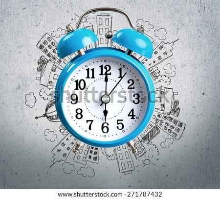 Clock, Alarm Clock, Isolated.