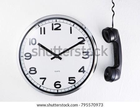 clock and telephone #795570973