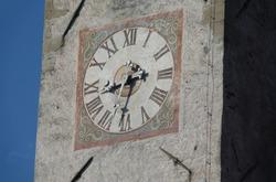 Clock at the church in Nova Ponente