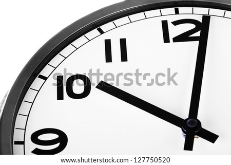 Clock close up - time concept