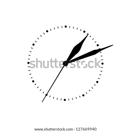 clock dial isolated on white background