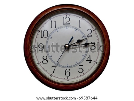 clock dial isolated on white background - stock photo