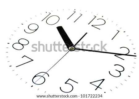 Clock face - stock photo