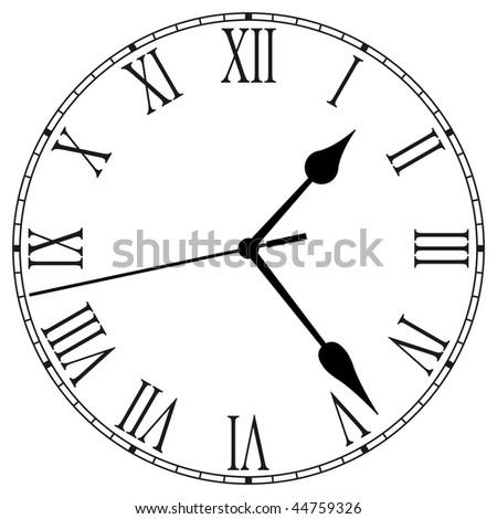 Clock-Face - stock photo