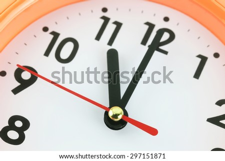 Clock face in time concept,macro image.
