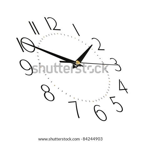 clock face isolated on white background - time concept