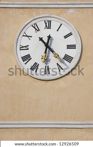 Clock face on a clock tower