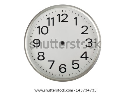 Clock face without the hands isolated on white background  #143734735