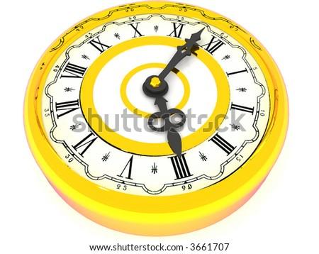 clock. Four o'clock. 3d - stock photo
