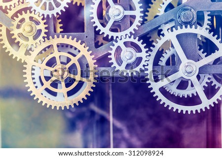 clock gear set Close up