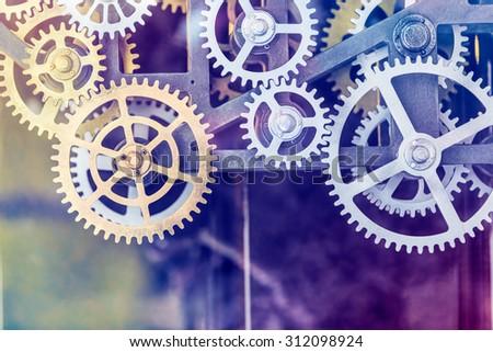 clock gear set Close up
