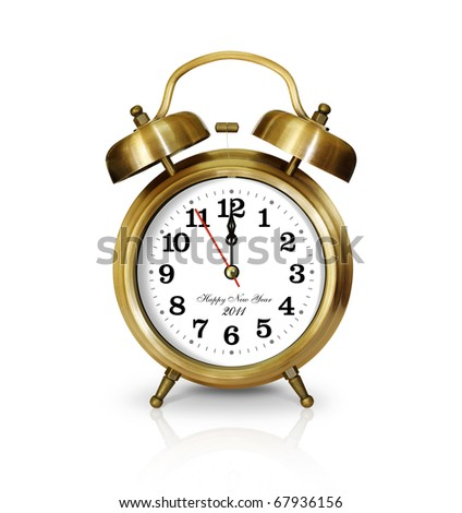 Clock gold New Year's Day