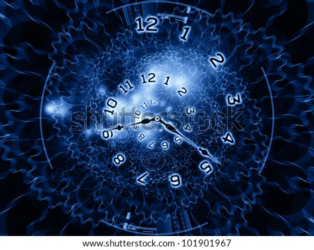 clock hands, gears, lights and numbers arrangement suitable as backdrop in projects on time sensitive issues, deadlines, scheduling, temporal processes, digital technologies, past, present and future