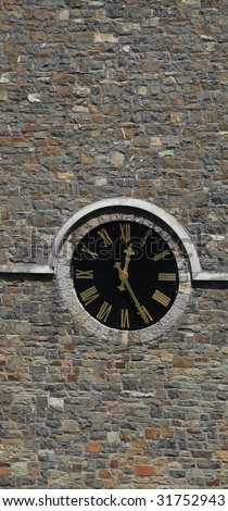 Clock In Bell Tower - stock photo