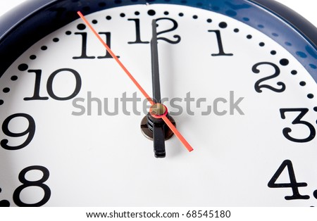 clock in close range - stock photo