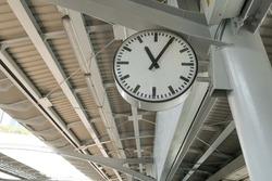 Clock in railway station.