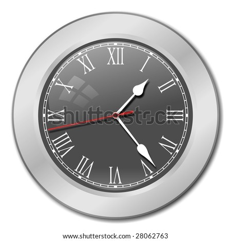 Clock in silver body
